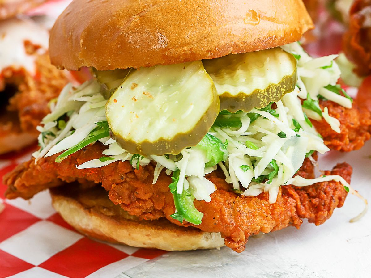 A fried chicken sandwich from Roaming Rooster