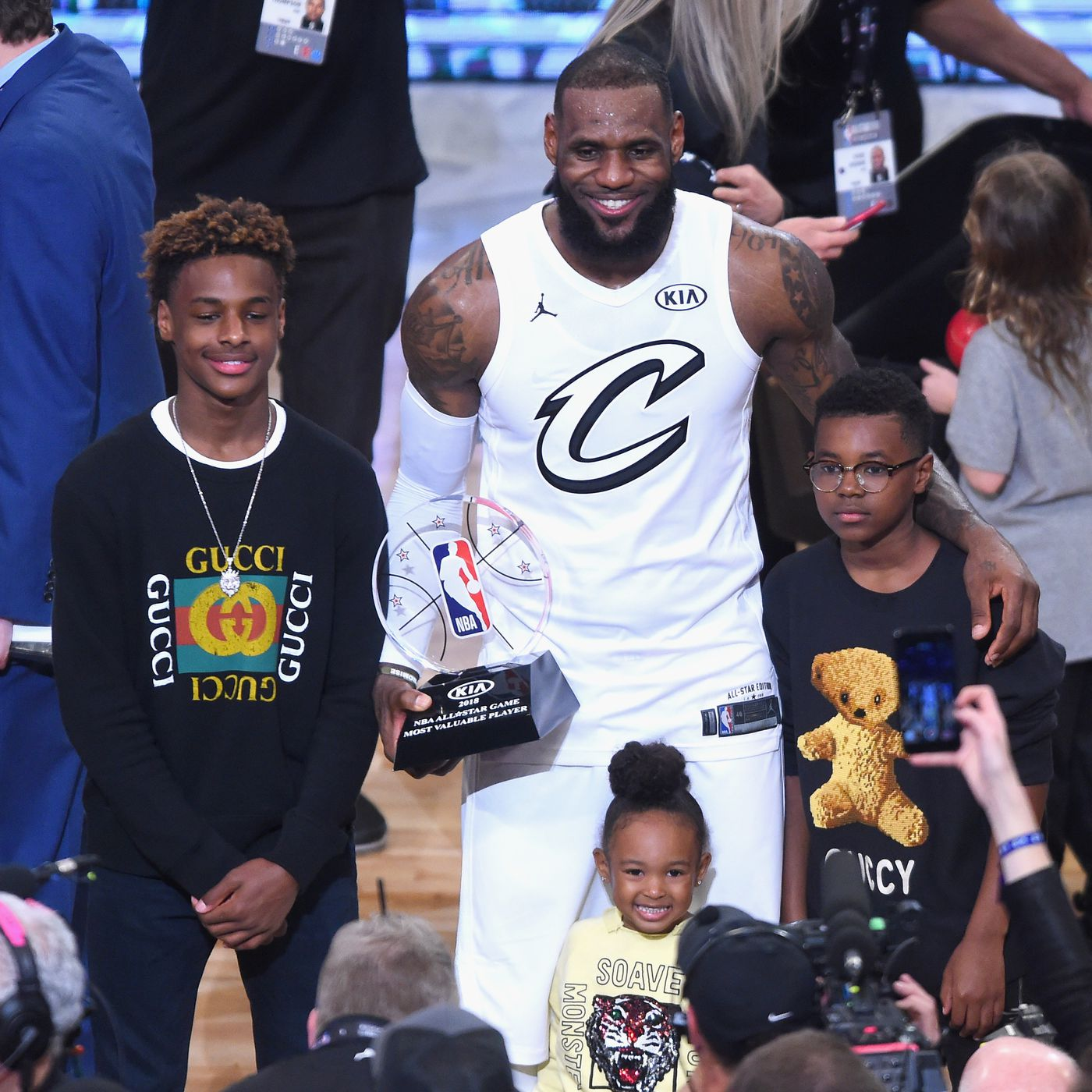 detailed look 39598 3c220 LeBron James' son is a 13-year-old superstar. Meet Bronny ...