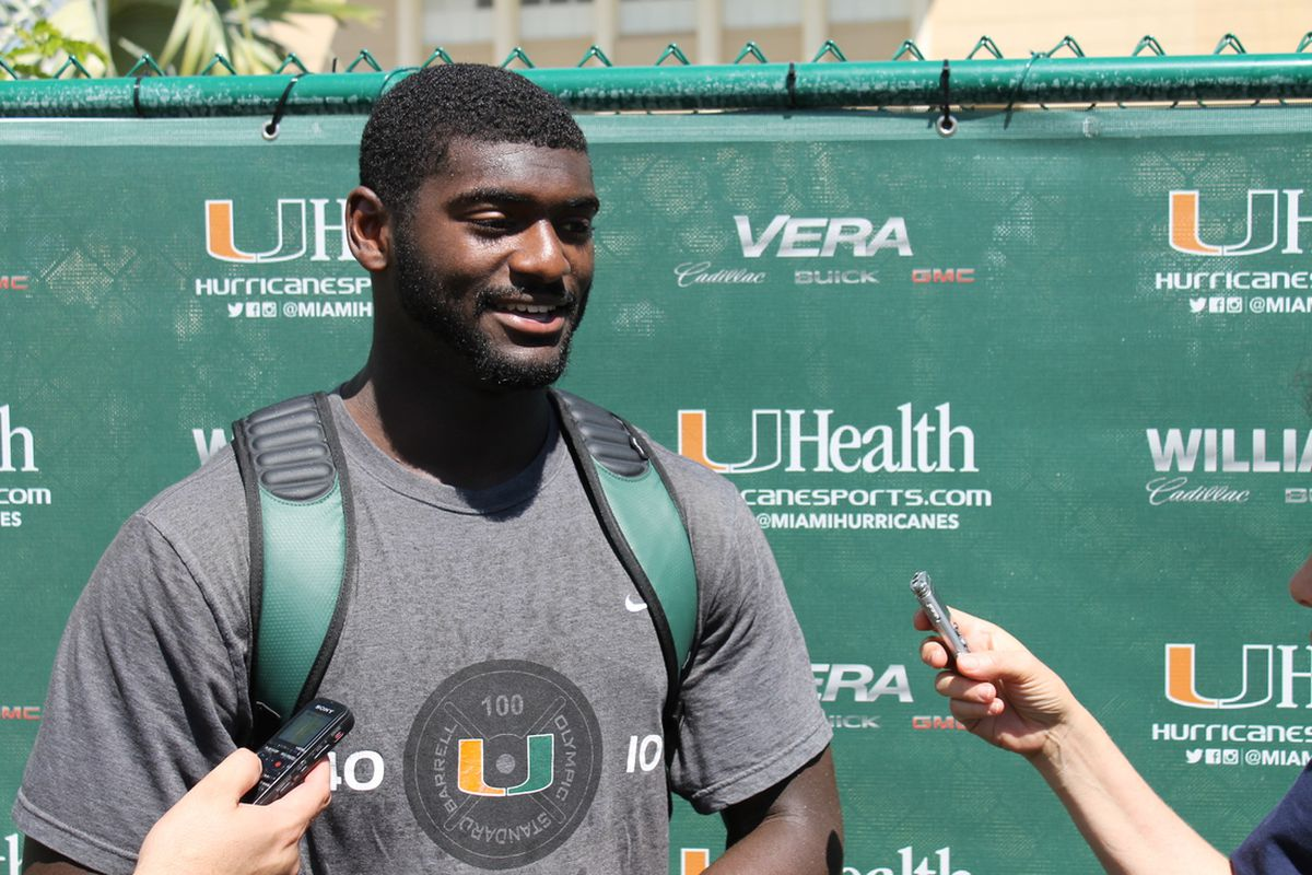 JImmy Gaines after practice