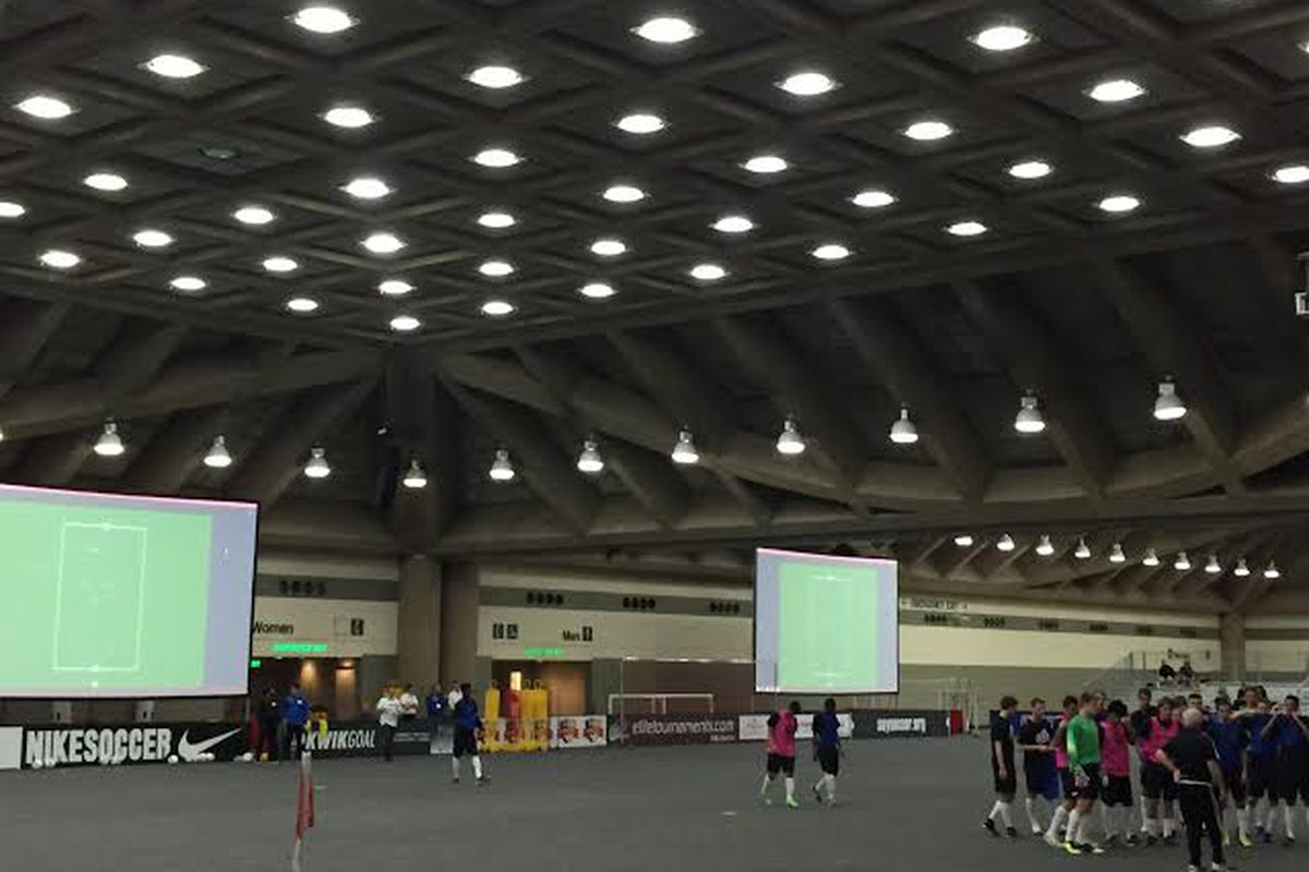 A demo field session at the NSCAA Convention