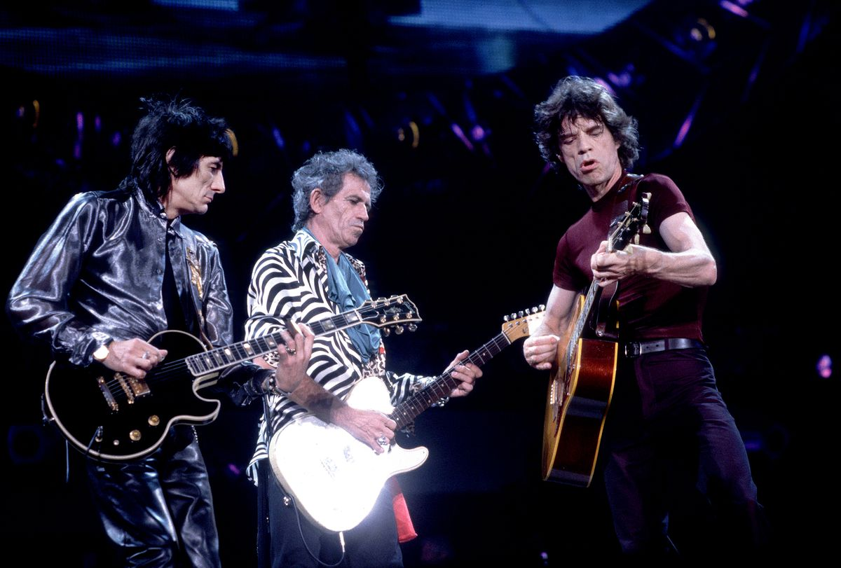 The Rolling Stones on the Bridges to Babylon Tour in 1997, U.S.A. | Photo by Paul Natkin