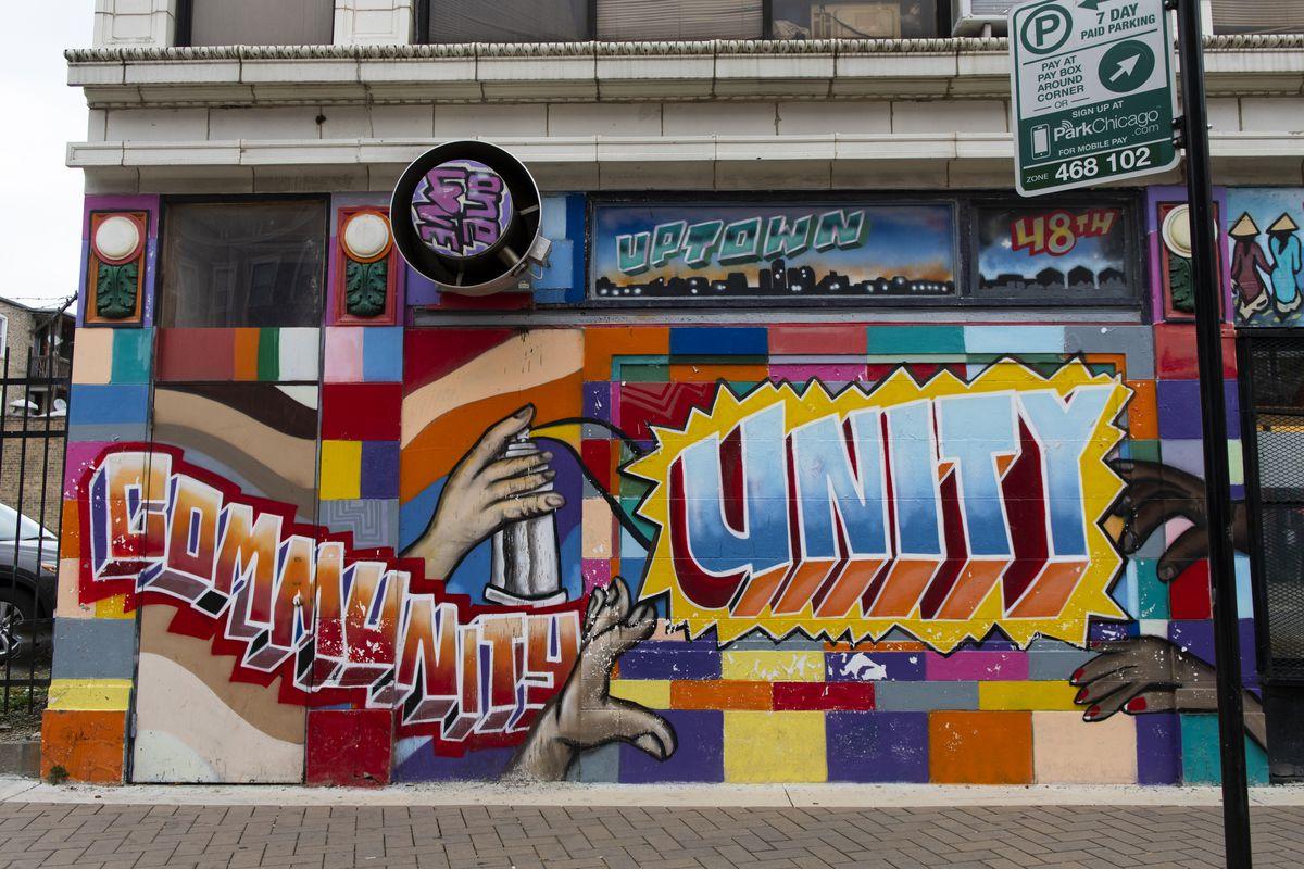 A mural near Argyle Street in Uptown. | Tyler LaRiviere/Sun-Times
