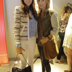 """Samantha Hutchinson of <a href=""""http://couldihavethat.blogspot.com/""""target=""""_blank"""">Could I Have That</a> in an Iro jacket and Celine bag with Jacey Duprie of <a href=""""http://www.damselindior.com/""""target=_blank"""">Damsel in Dior</a> slinging an Hermes cross"""