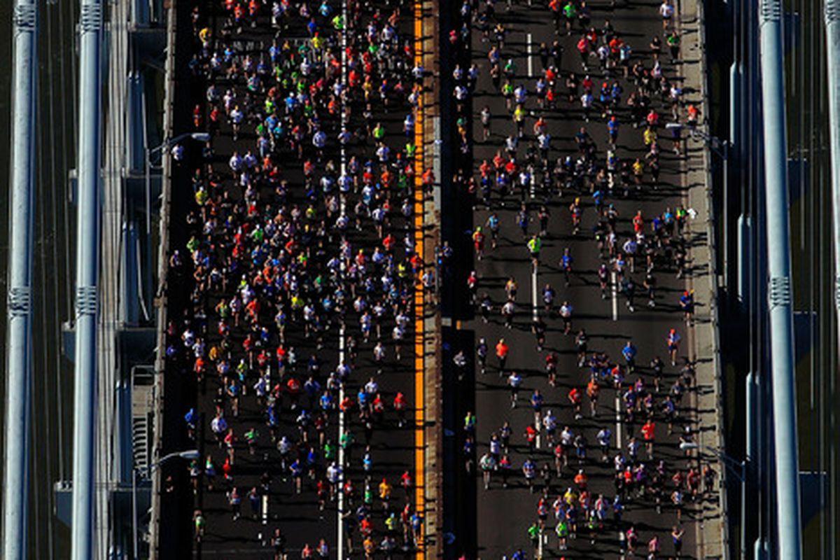 The 2011 New York City Marathon.