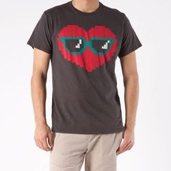 """<a href=""""http://www.threadsforthought.com/store/men/featuring/made-in-usa/sunglass-heart-tee.html?color=black"""">Threads 4 Thought Sunglass Heart Tee</a>, $29.50 at Nordstrom."""
