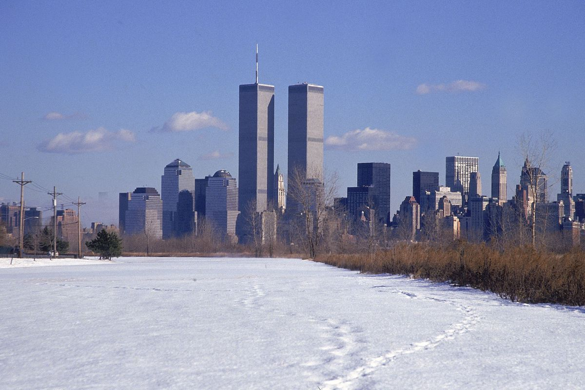 World Trade Center's Twin Towers viewed