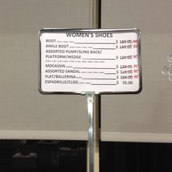 Women's shoe prices as of last night (2/5)