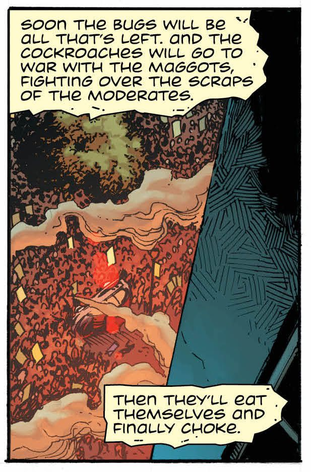 Rorschach monologues in Doomsday Clock #1 (2017), DC Comics