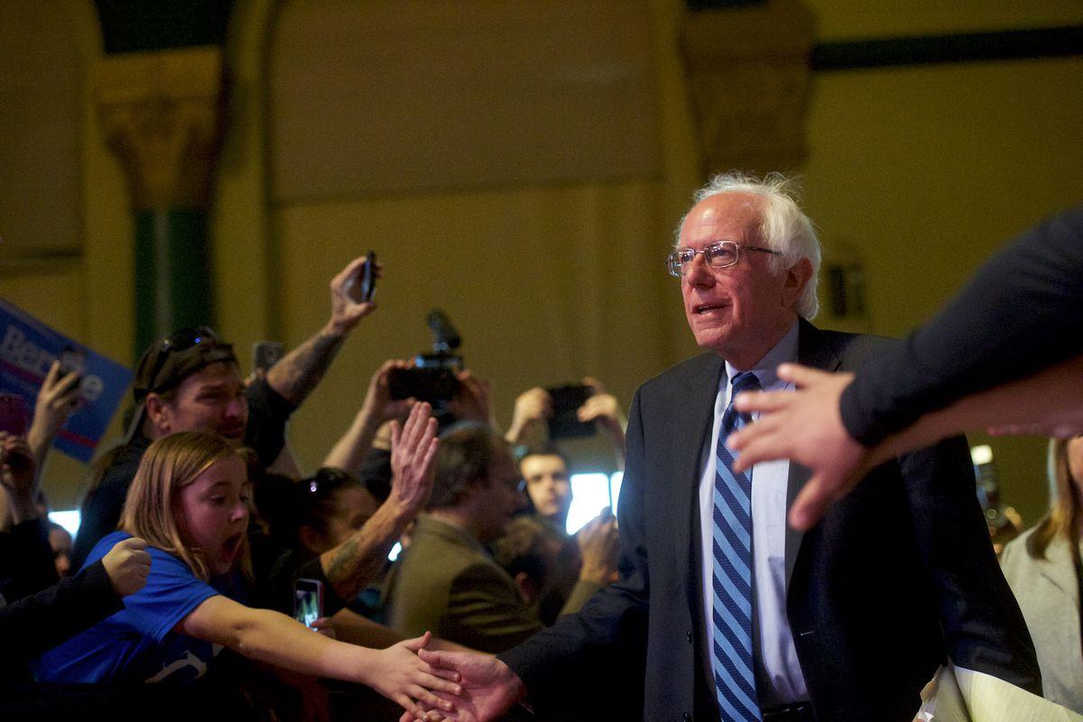 Bernie Sanders Campaigns In Atlantic City
