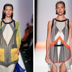 Two looks from BCBG Max Azria this morning. Via Getty.