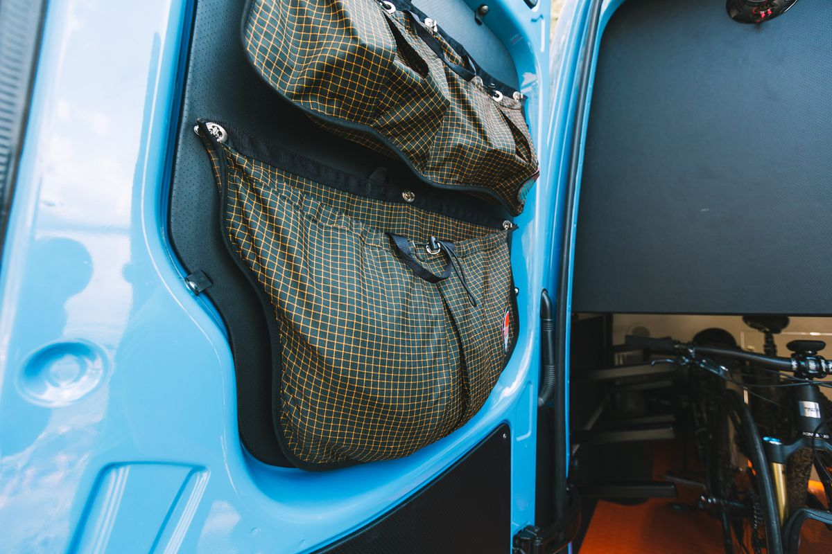 Storage Pockets On The Rear Doors Of Van Photography By Reuben Wurtz