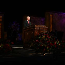 Elder Kelly R. Johnson, General Authority Seventy, speaks during the Sunday afternoon session of the 190th Semiannual General Conference of The Church of Jesus Christ of Latter-day Saints on Oct. 4, 2020.