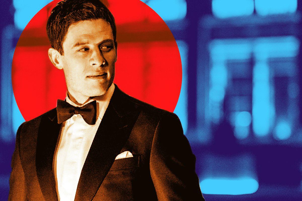 James Norton wearing a tuxedo in 'McMafia'