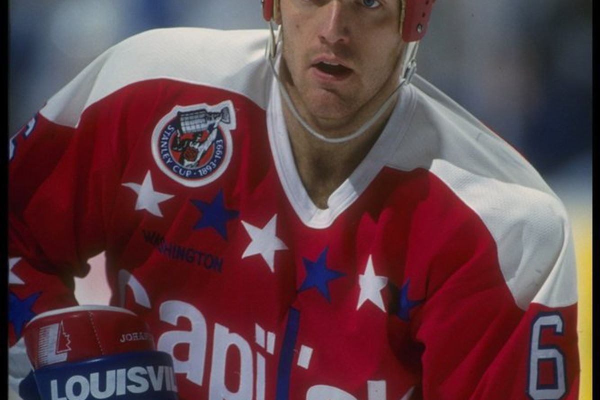 Calle Johansson looks on during a game against the Buffalo Sabres at Memorial Auditorium in Buffalo, New York, December 23, 1992. Photo: Rick Stewart/Allsport