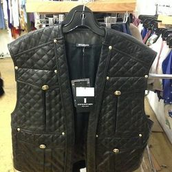 Balmain Agneau vest, $2,152 (originally $10,760)
