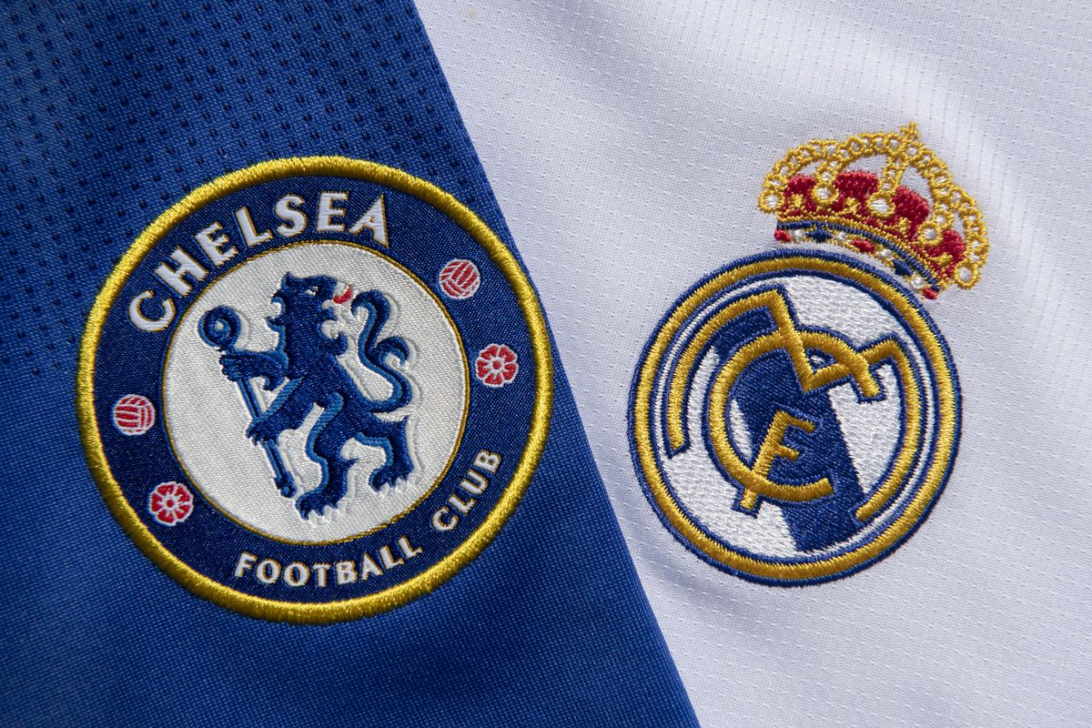 The Chelsea and Real Madrid Club Badges