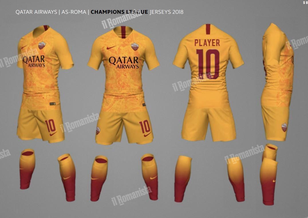 timeless design 69d7f 4ff2a Full 2018-19 AS Roma Kit Line Leaks - Chiesa Di Totti
