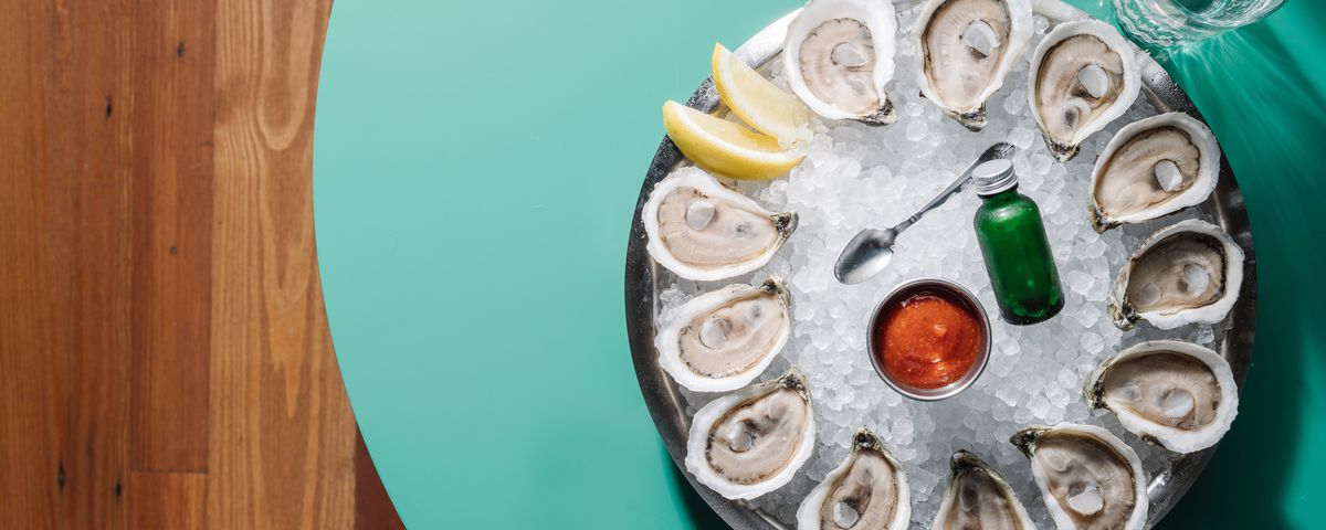 Oysters at Watchman's Seafood & Spirits in Krog Street Market