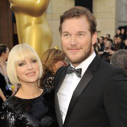 Anna Faris, left, and Chris Pratt, right, attend the 84th Academy Awards in Hollywood. Faris and Pratt were married in 2009 and announced their separation on Aug. 7.