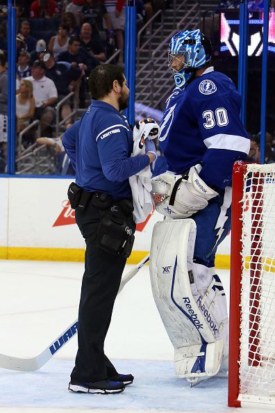 At 6'7 and 215 pounds, Ben Bishop has a noticeable size advantage on the ice.