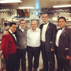 """Owner Nino Russo with staff on opening night. [<a href=""""https://twitter.com/ConeyIslandFun/status/274926819692658689"""">@ConeyIslandFun</a>]"""