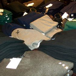 Men's sweaters, $59.90 to $169.90