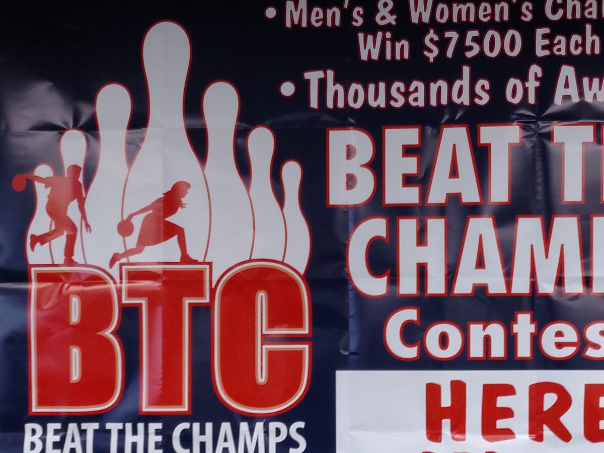 Beat the Champions sign for 2017-18.<br>Credit: Dale Bowman