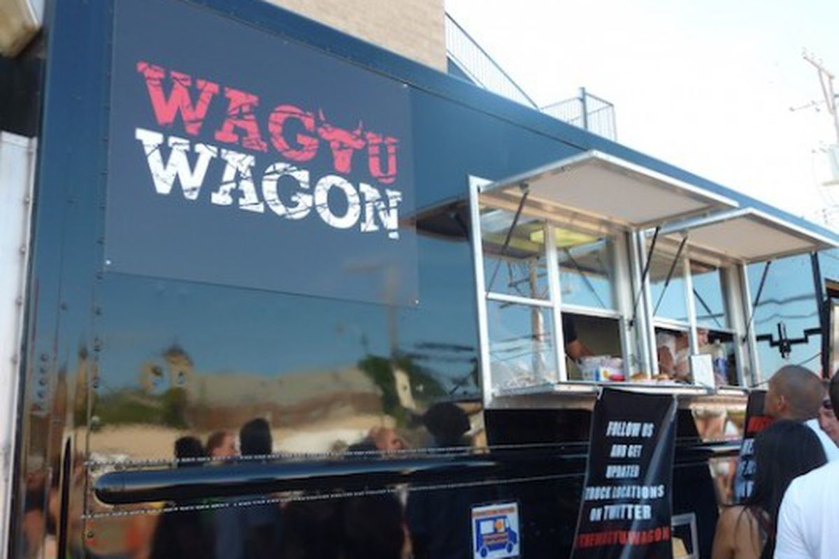 The new Wagyu Wagon. The line wrapped around the lot.