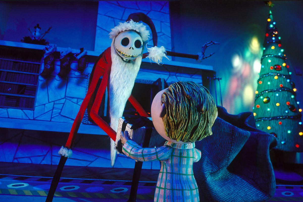 "(Left) Jack Skellington (Chris Sarandon) in Tim Burton's ""The Nightmare Before Christmas."" ©Disney Enterprises, Inc. All rights reserved"