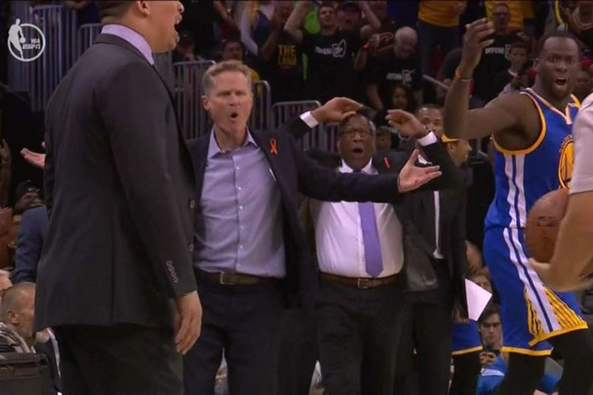 Referee John Goble explains Draymond Green technical snafu