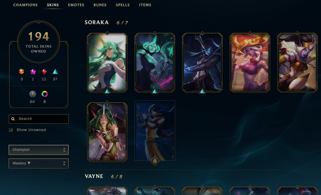 Some Of Julias Skins In League Of Legends