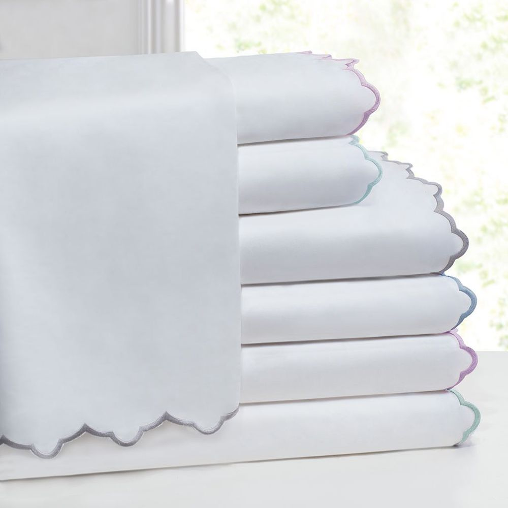 Scalloped Embroidered Sheet Set