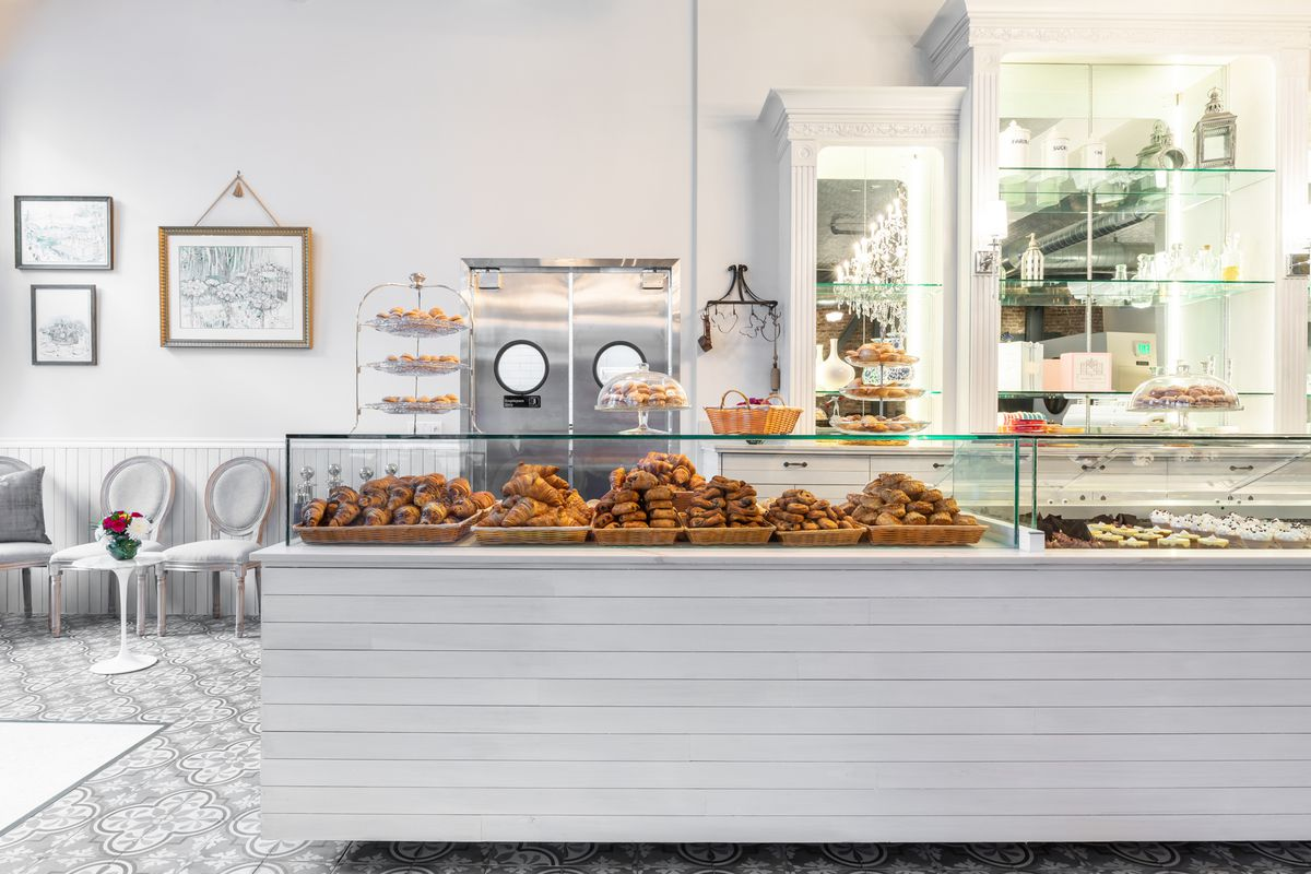 The pastry display at Maison Danel