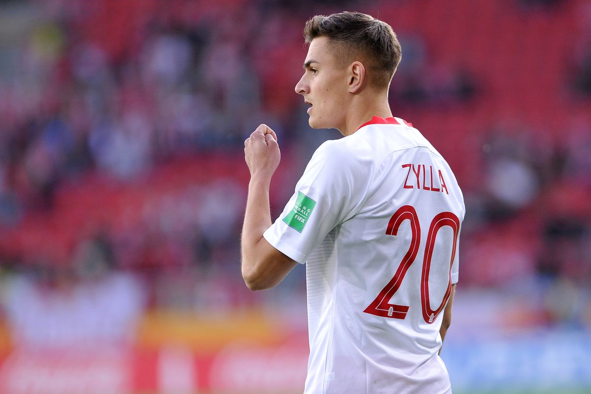 LODZ, POLAND - MAY 29: Marcel Zylla of Poland looks on during the FIFA U-20 World Cup match between Senegal and Poland on May 29, 2019 in Lodz, Poland.
