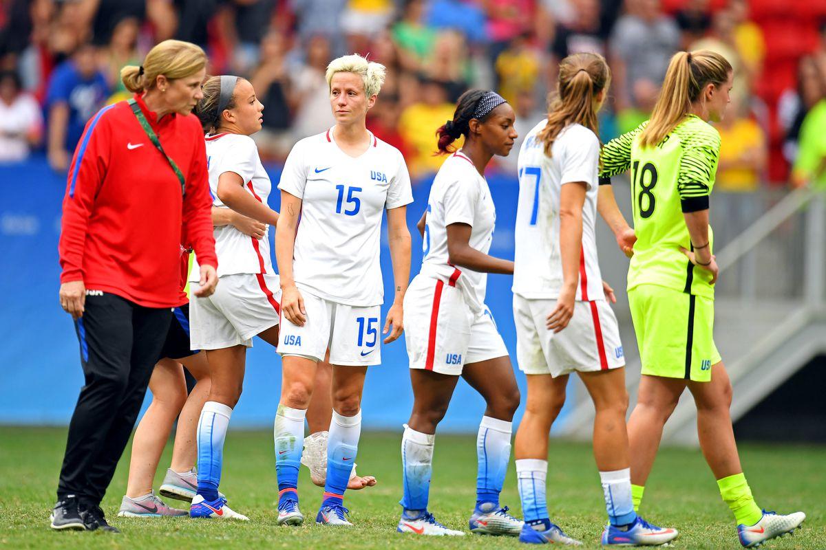 Olympics: Football-Women's Team-Quarterfinal -USA vs SWE
