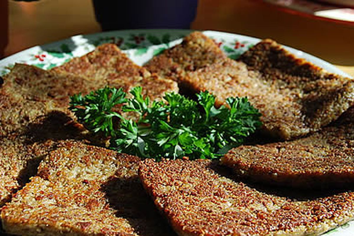 Looks suspiciously like Scrapple to us.