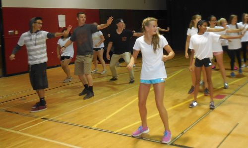 Zumba was one of the choices during a recent PE class at Fairview High School.