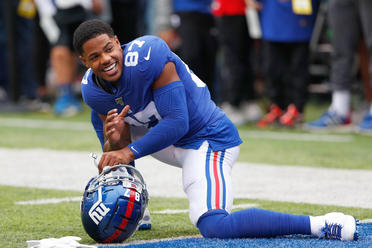New York Giants wide receiver Sterling Shepard during warm up before game against the Minnesota Vikings at MetLife Stadium.