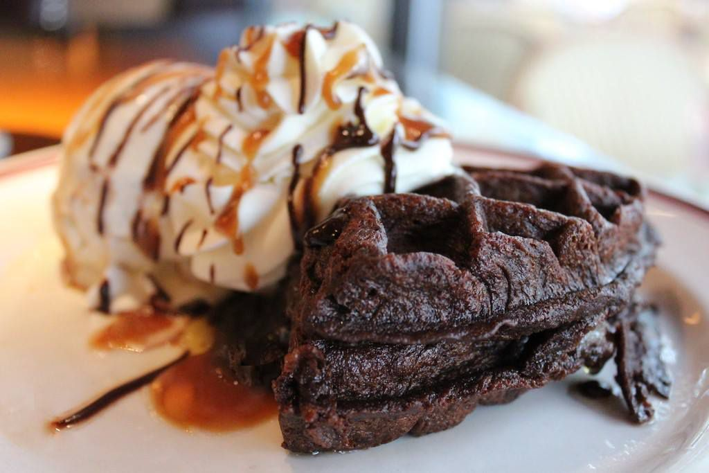 A chocolate waffle from Mike's American Grill.