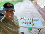 Larry Jennings with some of his Heidecke catch. Provided photo