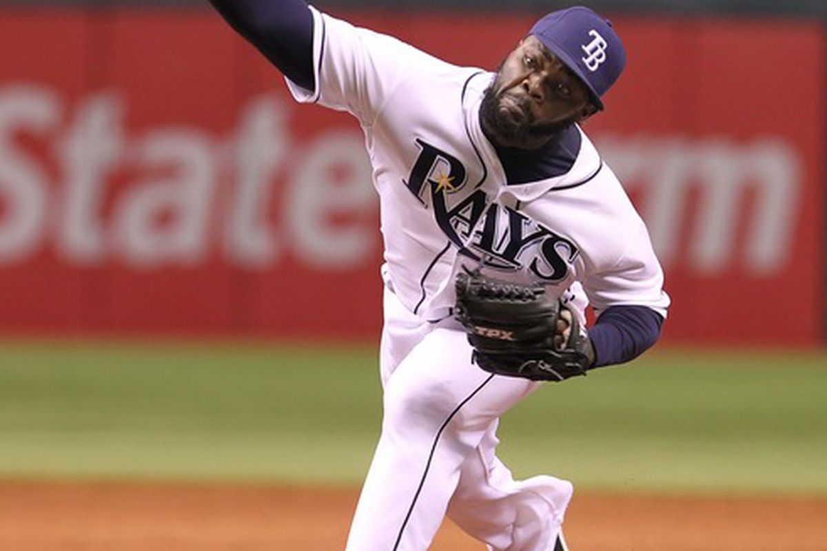 Fernando Rodney is having a great season as Tampa Bay's closer, but there are a slew of reasons to think that he won't be able to keep this up. Mandatory Credit: Kim Klement-US PRESSWIRE