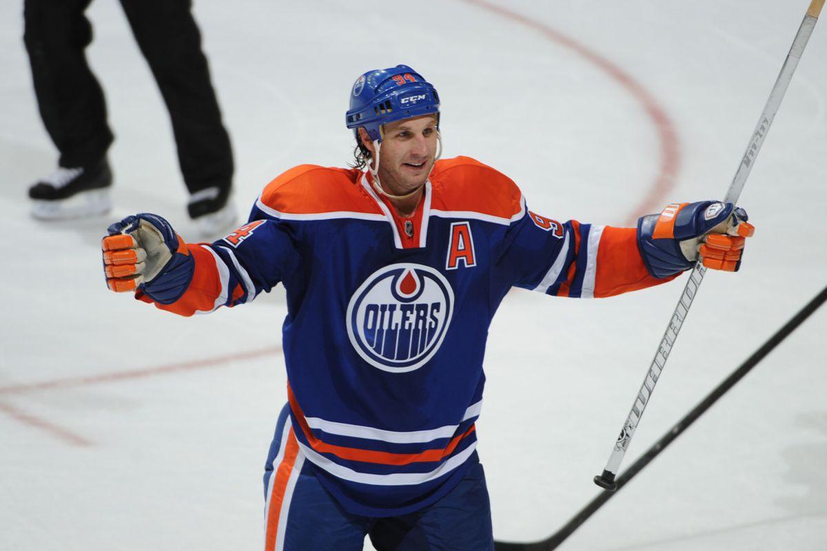 Ryan Smyth is leading the Edmonton Oilers with 30 PIMs on the season