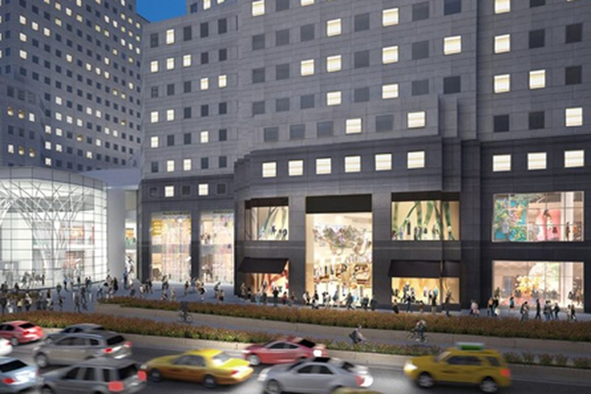"""Rending of Brookfield Place, via <a href=""""http://www.wwd.com/retail-news/designer-luxury/burberry-said-opening-brookfield-unit-6776159?navSection=issues"""">WWD</a>"""