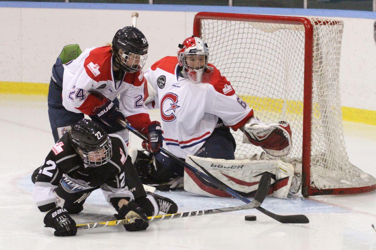 Brampton, Canada,- Dec 12 2015 Brampton Thunder hosts Montreal Les Canadiennes in Canadian Women's Hockey League action