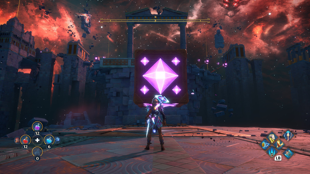 A puzzle solution for the Vault of Ares in Immortals Fenyx Rising