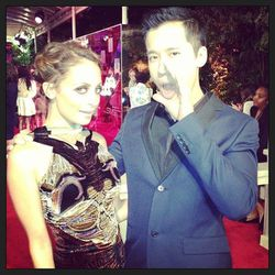 """""""Calling all the basic bitches at the #qvcredcarpet party w @nicolerichie #nicolerichie"""" - <a href=""""http://instagram.com/p/WD5eg0L0ic/""""target=_blank"""">Jared Eng</a>"""