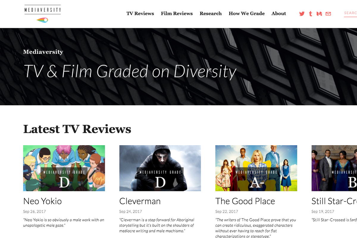 a new diversity reviews site rates tv shows and films by quality