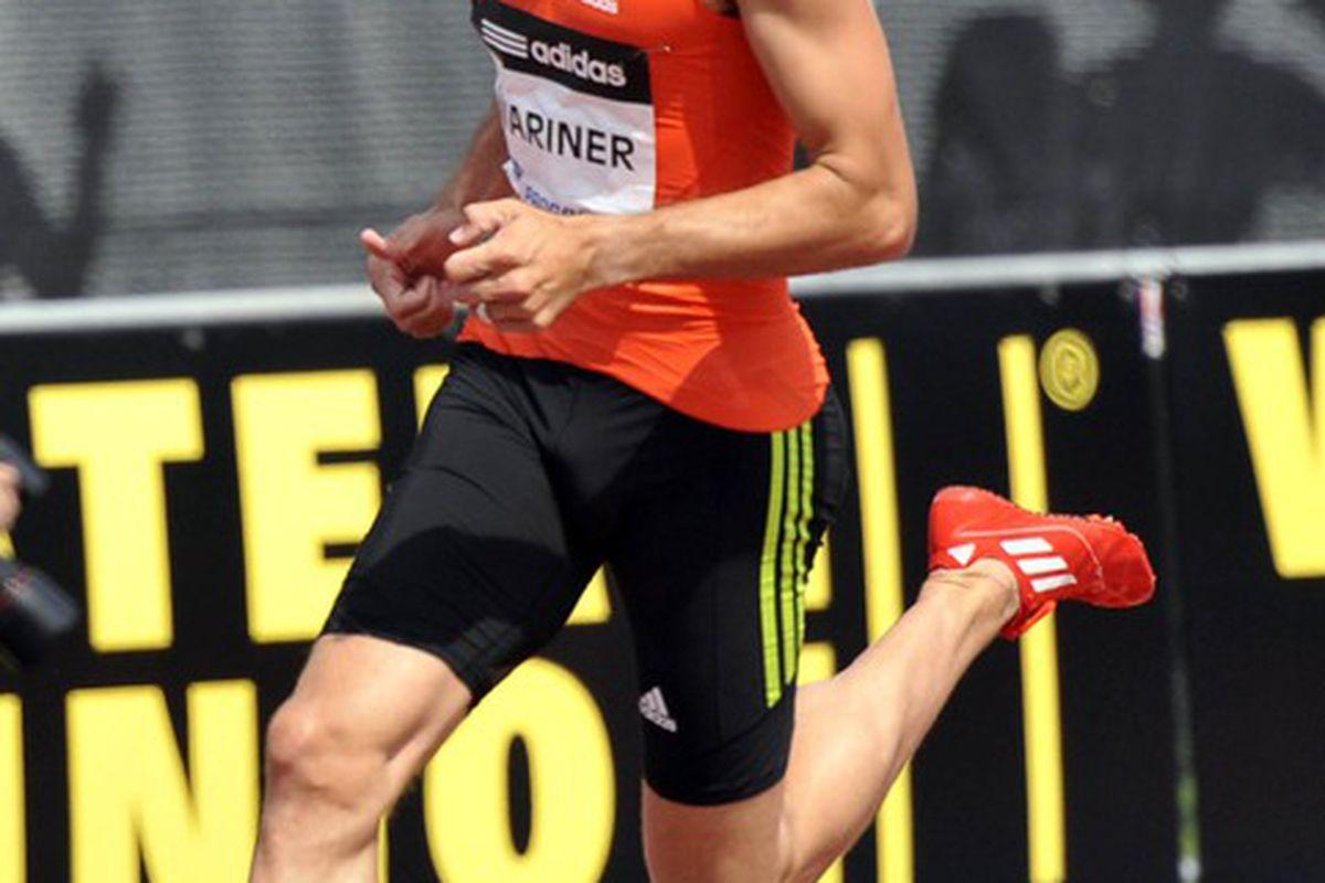Jun 9, 2012; New York, NY, USA; Jeremy Wariner during the men's 400m at the Adidas Grand Prix. Mandatory Credit: Joe Camporeale-US PRESSWIRE