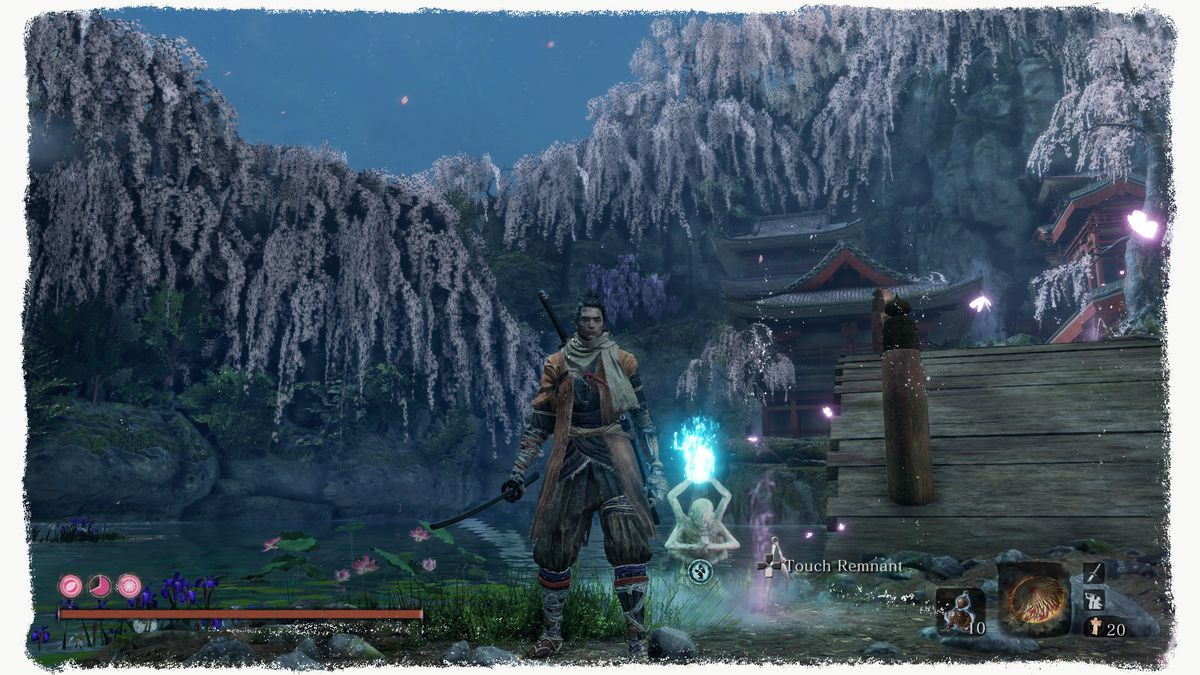 Flower Viewing Stage section of the Fountainhead Palace in Sekiro