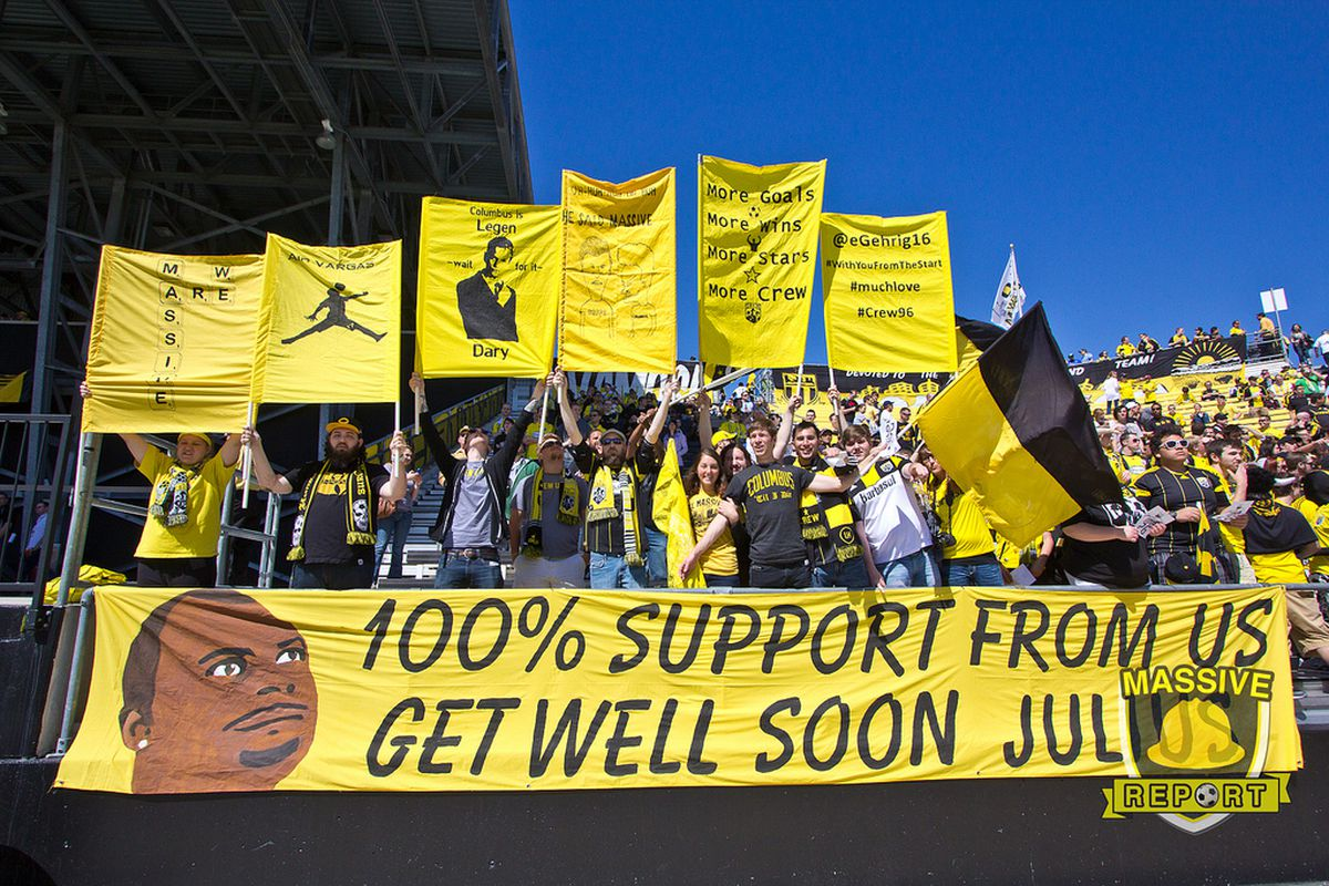 We're going to need a bigger banner. (Fahmi/Massive Report)